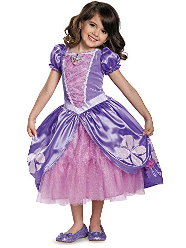 Princess Sofia Costume (Next Chapter Deluxe Sofia The First Disney Junior Costume, Medium/3T-4T)