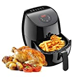 AIGEREK Air Fryer – 3.7Qt, 1350W – Touch Screen Digital Air Fryer & Insulted Basket Handle, Fry Healthy With 80% Less Fat/Ark200BE