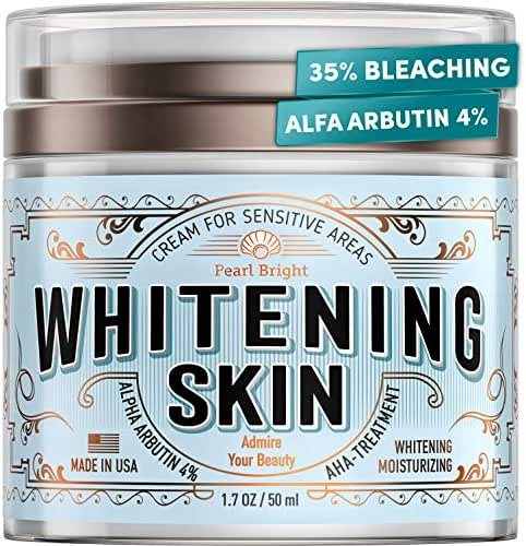 Whitening Cream for Face and Body - Made in USA - 35% Bleaching Beauty Cream with 4% Arbutin and Niacinamide - Perfect for Skin Whitening, Dark Spots, Hyperpigmentation, Intimate & Arnpit Whitening