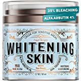 Whitening Cream for Face and Body - Made in USA - 35% Bleaching Beauty Cream with 4% Arbutin and Niacinamide - Perfect for Skin Whitening, Dark Spots, Hyperpigmentation, Intimate & Armpit Whitening