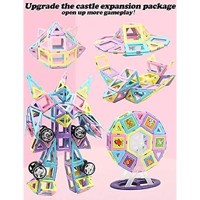 HLAOLA Magnetic Blocks Upgrade Magnetic Building Blocks Magnetic Tiles Educational Toys Tiles Set for Kids Magnet Stacking Toys for Kids Children Age 3 4 5 6 7  Year Old (Expansion Package )-42 PCS: Toys & Games