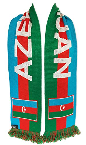 National Soccer Team Azerbaijan International Soccer Team Scarves, One Size, Blue