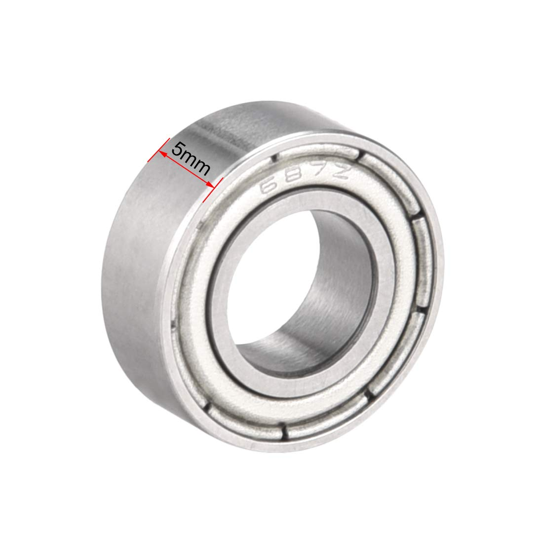 sourcing map 685ZZ Deep Groove Ball Bearing Double Shield 685-2Z 5mm x 11mm x 5mm Chrome Steel Bearings Pack of 1