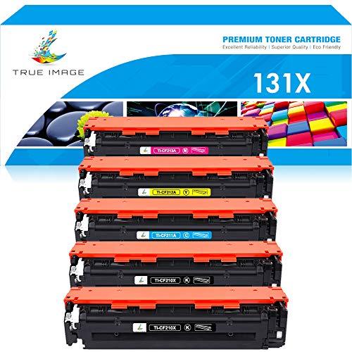 True Image Compatible Toner Cartridge Replacement for HP 131X 131A CF210X CF211A CF212A CF213A LaserJet Pro 200 color M251nw M251n MFP M276nw M276n (Black Cyan Yellow Magenta, 5-Pack) (Printer Hp Laser Jet Pro 200 M276)