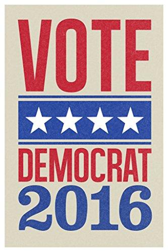 Vote Democrat 2016 Star Banner Cream Poster