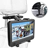 ieGeek Car Headrest DVD Player/Tablets Mount Holder, 360° Adjustable Car Back Seat Mount Holder for Portable DVD Player, 7-12 inch Samsung Galaxy Tab A/E, iPad Pro 10.5/9.7 / Air 2 / Mini 4