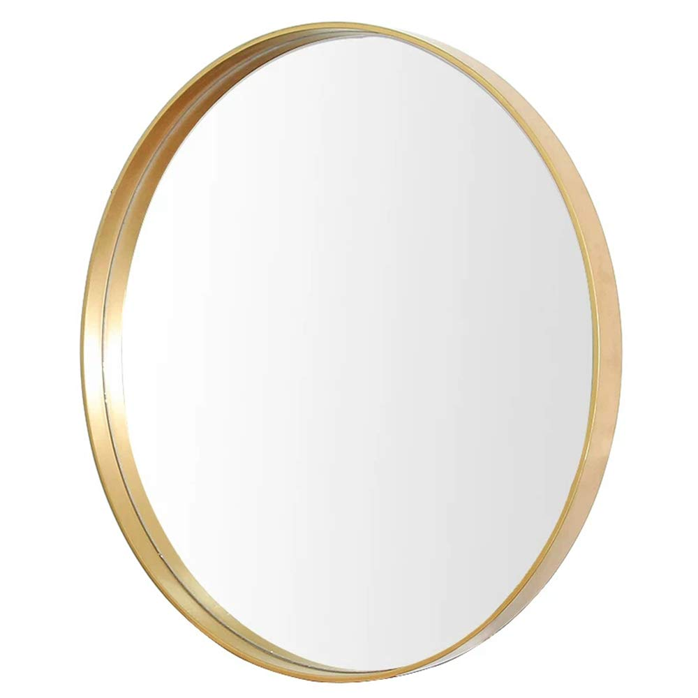 Mirror European Bathroom with Border Makeup Bathroom Wall Hanging Hair Salon Round Hotel Decorative Makeup (Color : Gold, Size : 3030cm) by Mirror (Image #1)