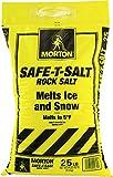 salt for snow melt - Morton Safe-T-Salt Rock Salt 25.0 LB For Snow And Ice Removal