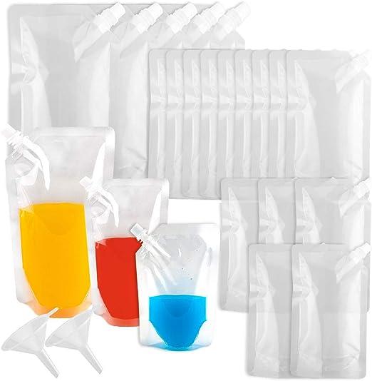 WXJ13-20 botellas de plástico reutilizables con boquilla y ...