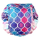 Cosmetic Bag Lazy Makeup Organizer, Fintie Waterproof Portable Drawstring Large Capacity Travel Toiletry Storage Pouch Case for Women Girls, Moroccan Love