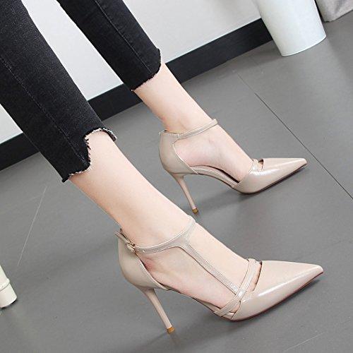 scarpe primavera stile europeo alto da cavo Lo scarpe tacco punta ladies' scarpe a ed singolo estate lavoro nuovo di YMFIE Rq4BFn