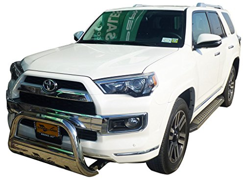 Vanguard VGUBG-0987SS Compatible with Toyota Highlander 2014-2019 Bumper Guard Stainless Steel Bull Bar with Skid Plate