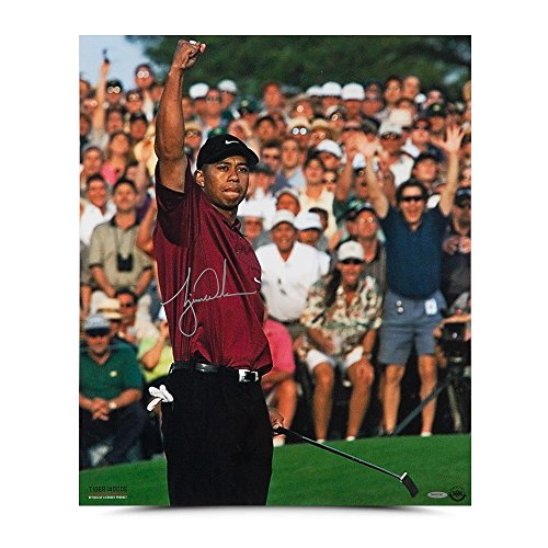 Tiger Woods Autographed 2001 Masters 20 X 24 Photo - Upper Deck Authentic (Woods Masters Tiger Autographed)