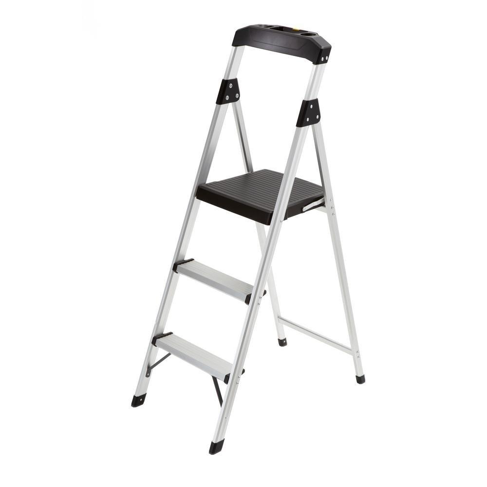 Wondrous Gorilla Ladders 3 Step Aluminum Step Stool Ladder With 225 Evergreenethics Interior Chair Design Evergreenethicsorg