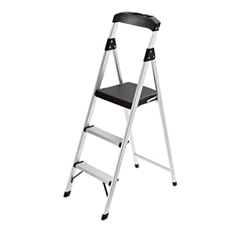 Gorilla Ladders 3-Step Aluminum Step Stool Ladder with 225 lb  Type