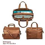 Genuine Leather Messenger Bag for Men Laptop Bag Shoulder bag Premium Office Bag by Calfnero