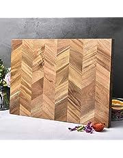 """Bill F Sinds 1983 snijplank,Nieuwe Acacia houten keukensnijplank met speciale eind-graan,Professionele kwaliteit grote houten snijplank 46 X 33 X 1"""""""