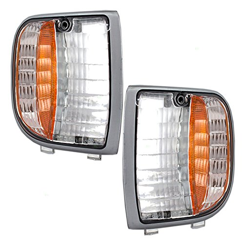 Driver and Passenger Park Signal Corner Marker Lights Lamps Lenses Replacement for Mazda Pickup Truck ZZM0-51-131 ZZM0-51-121