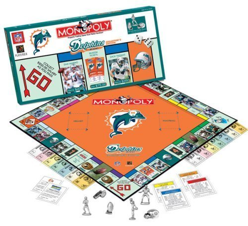 USAOPOLY Miami Dolphins Monopoly Game