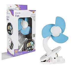 Dreambaby Stroller Fan, White/Blue