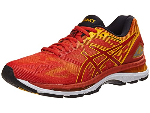 ASICS Mens Gel-Nimbus 19 Running Shoe, Red/Fusion/Phantom, 10 D(M) US