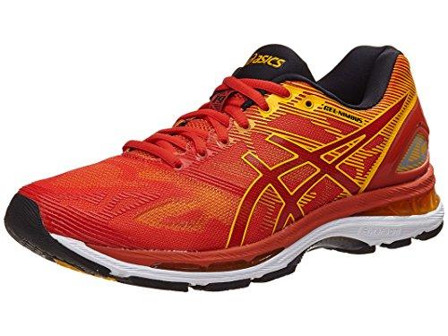 ASICS Mens Gel-Nimbus 19 Running Shoe, Red Clay/Gold Fusion/Phantom, 10 D(M) US