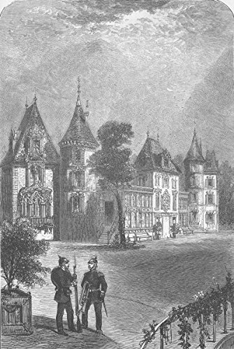 FRANCE. Chateau of Bellevue - 1870 - old antique vintage print - engraving art picture prints of Germany Palaces - The ()