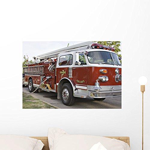 Wallmonkeys FOT-2618294-24 WM15948 Big Red Firetruck Peel and Stick Wall Decals (24 in W x 16 in H), -