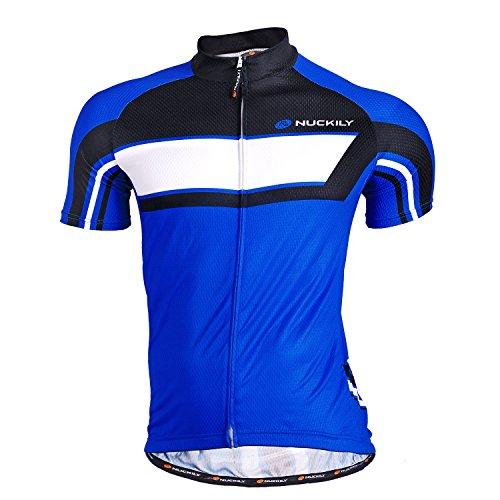 Nuckily Short Sleeve Cycling Jersey Bike Jersey Mens - Metallic Short Sleeve Jersey