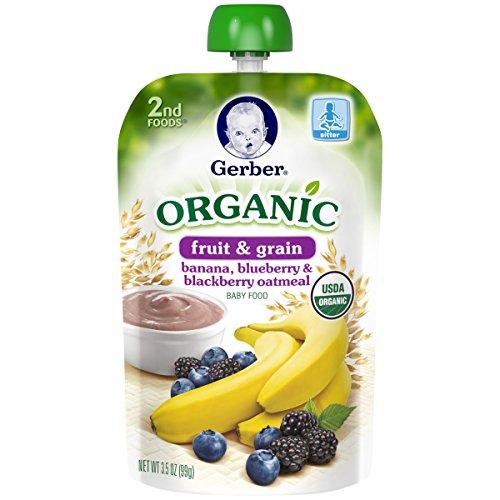 Gerber Organic Blueberry Blackberry Oatmeal