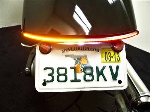 LED Fender Eliminator Integrated Running Light, Brake Light, and Turn Signal Kit with Tag Light and Bracket for Honda Fury (Smoked Lens)