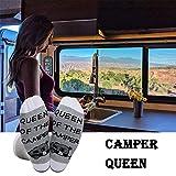 Queen of the Camper Socks Outdoor Camping Camper
