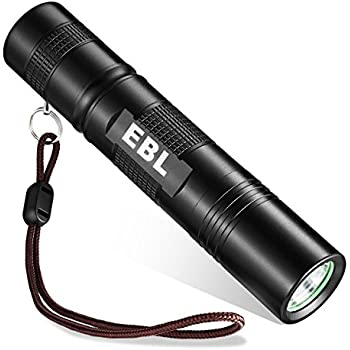 EBL Tiny & Powerful LED Portable Backup Flashlight - Waterproof, 5 Mode - Cree Lamp for SOS Emergency, Camping, Hiking Outdoor Indoor