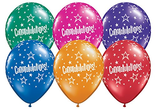Pioneer Balloon 87536 087536 Congratulations Star Patterns 11