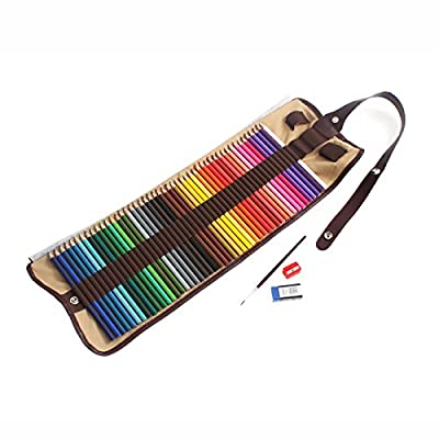 48 WaterColored High Quality Pencils - Drawing Pencils - Art Supplies - Painting Colours Included With Eraser, Sharpener and Blending Brush