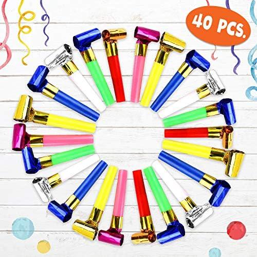 jaunty partyware Soplador de fiesta colorido con ebook de juegos ...