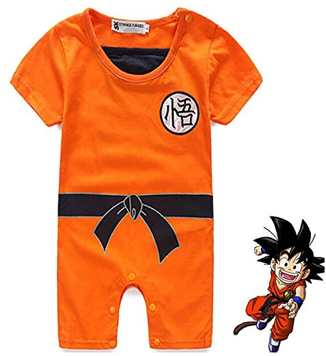 HOLRAN Baby Toddler Dragon Ball Goku Onesie Jumpsuit Romper 90