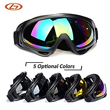 bec5207306e3 Generic C3   5 Lens Colors Dust-proof Ski Sunglasses Cycling Hiking Outdoor Sports  Goggles Skate Eyewear UV400 Bulletproof Skiing Glasses  Amazon.in  Sports  ...