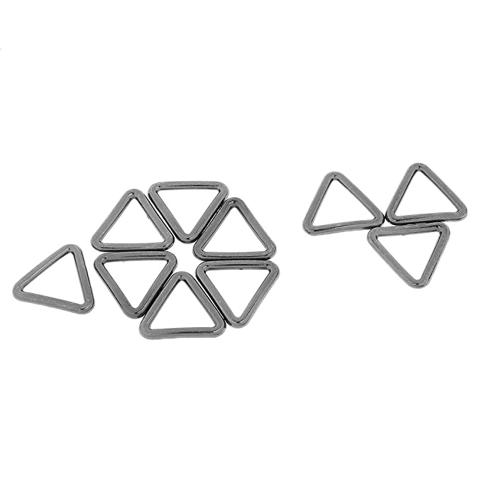 10pcs Metall Geschlossene Dreieck Ringe Schleife Verbinder Wölbungen