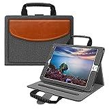Fintie iPad 9.7 2018 2017 - iPad Air 2 - iPad Air Handbag Case - Multi-Angle Viewing Stand Cover with Handle - Document Pocket - Auto Wake Sleep for Apple iPad 6th 5th - iPad Air 1 2 - Gray Brown