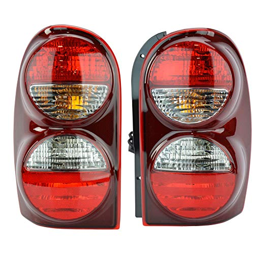 Rear Taillights Taillamps Left & Right Pair Set for 05-07 Jeep -