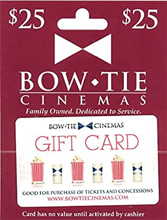 Amazon.com: Bow Tie Cinemas $25 Gift Card: Gift Cards