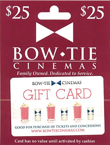 Bow Tie Cinemas $25 Gift Card (Fandango Card Gift)
