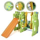 Baby Vivo–Swing Slide Park For Children Children Straight Slide Indoor and Outdoor Toys Garden–Jungle