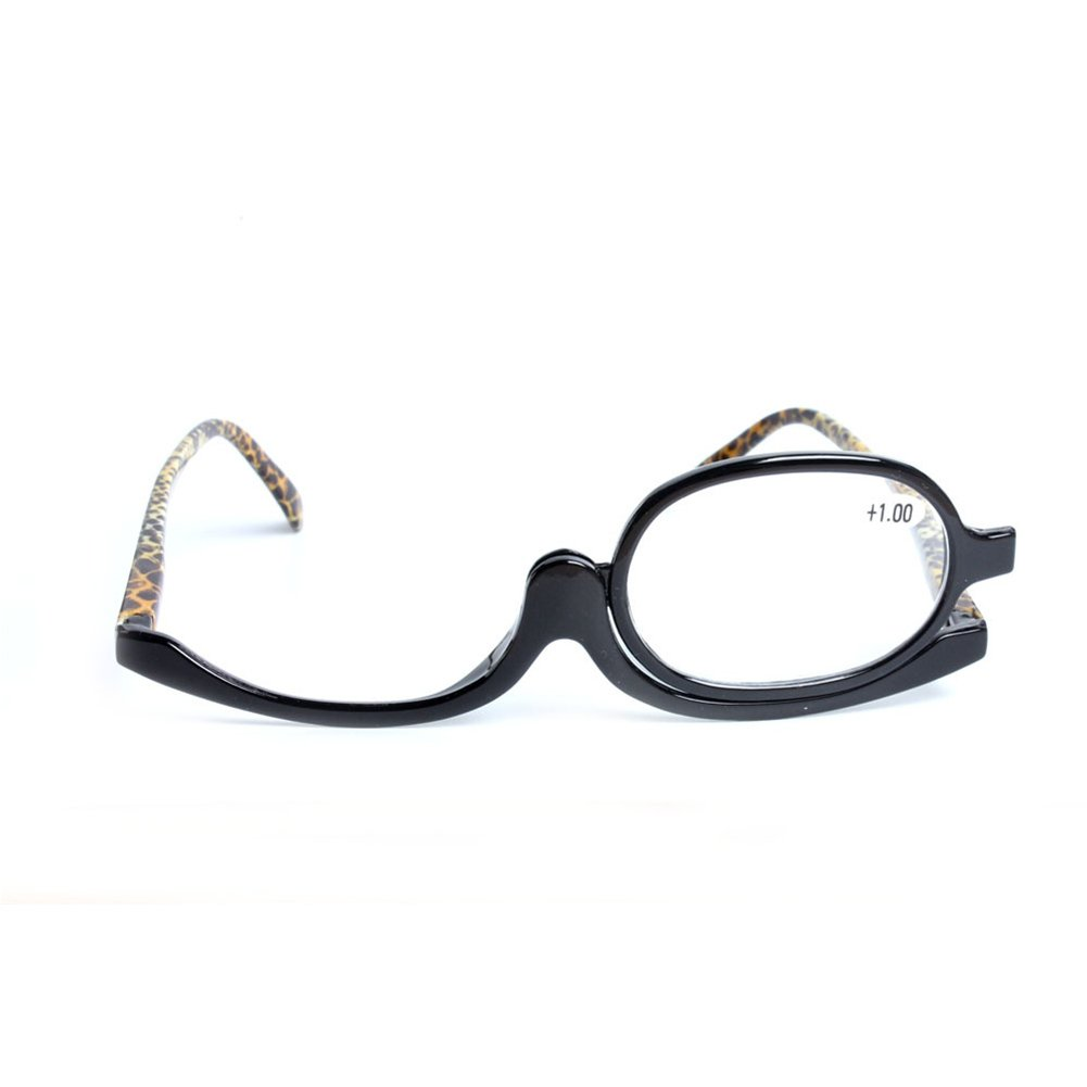 Fulision Lunettes de maquillage grossissant maquillage Lunettes Spectacles Flip Down Lunettes de lecture