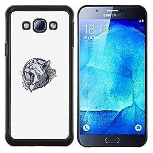 "Be-Star Único Patrón Plástico Duro Fundas Cover Cubre Hard Case Cover Para Samsung Galaxy A8 / SM-A800 ( Lynx Cat Panther Crest"" )"