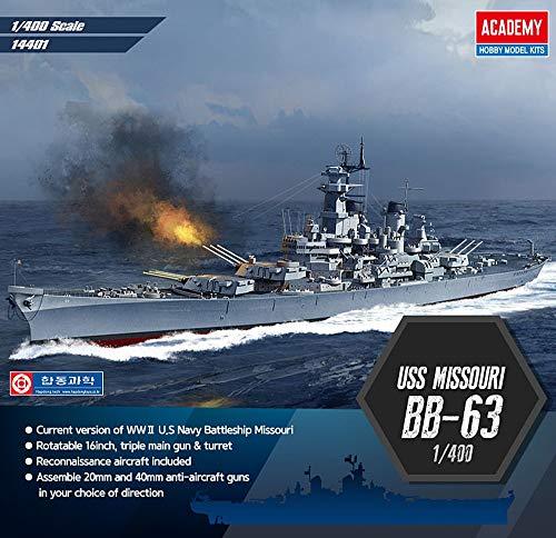- Academy USS Missouri BB-63 Battleship 1/400th Scale