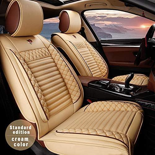 全天候用カスタムフィットシートカバー アルファ Alfa Romeo ジュリア 完全保護防水カーシートカバーヘッドレストと腰部クッション付きの超快適性ラグジュアリーパッケージ ベージュ フルセット