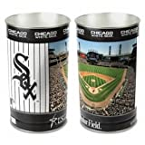 WinCraft MLB Chicago White Sox 15 Waste Basket, Team Color, One Size