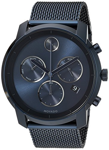 Movado Men's Swiss Quartz and Stainless-Steel-Plated Casual Watch (Large Image)